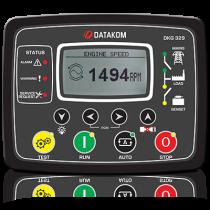Автоматическое переключение сети с синхроскопом (Сух.конт.на запуск генератора) Datakom DKG-329