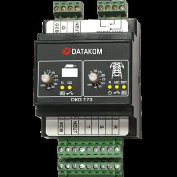 Автоматическое переключение сети (Сух.конт.на запуск генер., монтаж на DIN-рейку) Datakom DKG-173 din rail