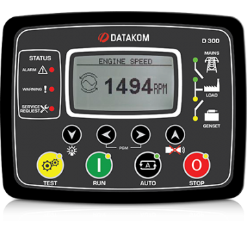 Контроллер для генератора (GSM, J1939, MPU, подогрев дисплея) Datakom D-300