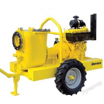 Мотопомпа дизельная грязевая Varisco JD 10-305 G10 SVM26 TRAILER