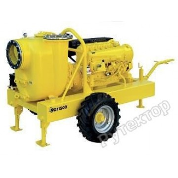 Мотопомпа дизельная грязевая Varisco JD 12-400 G10 RZD24 TRAILER