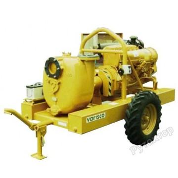 Мотопомпа дизельная грязевая Varisco JD 6-400 G10 SDZ18 TRAILER