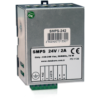 SMPS-242 Din Rail зарядное устройство (24В 2А монтаж на DIN-рейку) Datakom
