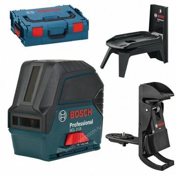 Лазерный уровень Bosch GCL 2-15 Professional + RM1 + BM3 + кейс (0.601.066.E02)