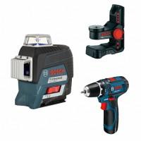 Лазерный уровень Bosch GLL 3-80 C+BM 1+GSR12V (0.615.994.0L4)
