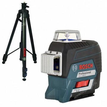 Лазерный уровень Bosch GLL 3-80 C + BT 150 + вкладка под L-BOXX (0.601.063.R01)