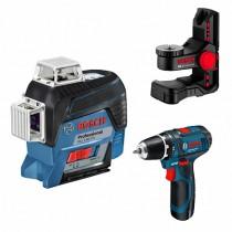 Лазерный уровень Bosch GLL 3-80 CG+BM 1+GSR12V (0.615.994.0L3)